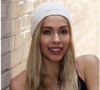 Neue handgemachte Häkelarbeitknit Kufi Hut für Männer und Frauen Art und Weise Baumwolle Strick Koopy Cap HäkelarbeitBeanie Schlaf Hüte Mützen Chemo Caps