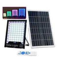 LED 태양 빛 태양 광 반, 잔디, 깃발 극에 대한 원격 제어와 홍수 빛 RGB 투광 조명 야외 IP65 라이트 스포트 라이트를 구동