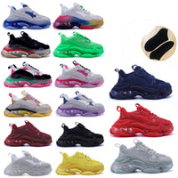 balenciaga balenciaca balanciaga Designer Triple S  Shoes Clear Bubble Midsole Men 2021 Triple-S Sneakers Increasing Leather Dad  hommes femme  femmes baskets  chaussure