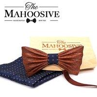مناديل mahooosive 2021 اليدوية خشبية القوس التعادل منديل مجموعة الأزياء الخشب عشاء الزفاف اكسسوارات corbata gravata