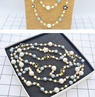Qualitätsperle lange Halskette up-market 16.99bb Blumen Dame