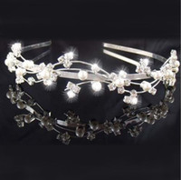2021 Bridal Headpieces Crown Tiaras Sparkle Crystal Cream Simulated Pearl Wedding Headband Hair Accessories For Women Jewelry Gift AL8631