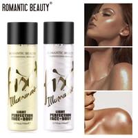 Névoa romântica de beleza destaque pré-configuração brilho pulverizador iluminando o shimmer de longa duração iluminar face fulgor maquiagem cara highlighter