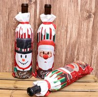 Christmas Wine Bottle Cover Merry Christmas Decor For Home 2...