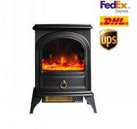 Azioni USA Valuxhome 750 / 1500W 22 pollici Stufa elettrica, riscaldatore portatile camino elettrico con fiamma realistica D14703430