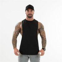 Hombres Tops Tops Gympxinran 2021 Hombres Gimnasios Top Bodybuilding Algodón Sin mangas Marca Fitness Chaleco Músico Masculino Moda Ocio Sling Sling Camiseta