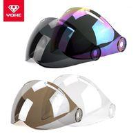 Motorcycle Helmets YOHE MINI Visor, Half Face Helmet General Original Lens , Clear Black Coffee Colorful Silver Blue1