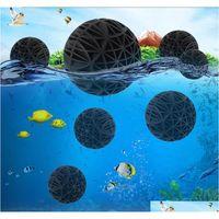 50pcs / lot 16mm 수족관 필터 바이오 공 공기 펌프 용기 용 휴대용 습식 건조 면화 청소 생선 탱크 연못 리프 스폰지 미디어 OAOP9