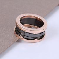 Nueva marca de alta calidad Joyería de moda pareja amor 925s cerámica 2-3 hombres y mujeres anillos de primavera letra B envío gratis