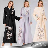 Abaya Türkiye Kaftan Robe Dubai Kimono Hırka Müslüman Başörtüsü Elbise Kaftan Katar Umman Arap İslam Giyim Abayas Kadınlar1