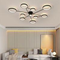 Oturma Yatak odası Mutfak Otel Odası LED Modern Tavan Montaj Lambası için Sanayi İskandinav Tavan Işık Ferforje Lambası