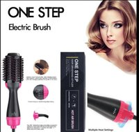 3 in 1 step Asciugatrice Volumizer Salon Hot Air Paddle Styling Brush Generatore di ioni negativi Generatore di raddrizzatore Bigodino