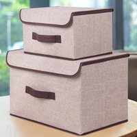 Storage Boxes with Lids No Smell Polyester Fabric Clear Stor...