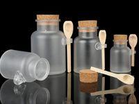 ABS глазурь пробковый пробковый бутылки портативные ванны соль порошковых контейнеров многоразовые гаджеты ванной пустые отдельные банки горячие продажи 7ZY G2