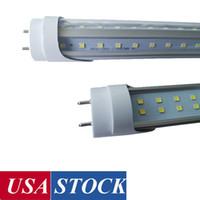 Luz do tubo do diodo emissor de luz 4FT, 22W / 28W / 36W / 72W em forma de V, 6000K, lâmpadas fluorescentes de substituição, bypass de balastro, base de BI-PIN G13