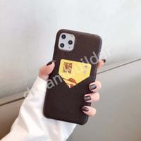 L Capas de telefone de moda para iPhone 12 pro max 11 pro máx 7 8 mais x xr xs max designer shell com cartão