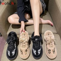 Botas WoHdhe Leopard Winter Snow Mulheres Sapatos Liso Mantenha a pele quente comfottable sneakers mujer de botas 2021