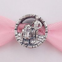 Authentic 925 Sterling Silver Beads C- 3Po & R2- D2 Charm Char...