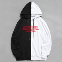 Mode Splice cool Hommes Hip Hop Hoodies Stranger Things Sweat-shirts Casual Streetwear Homme Femme Pull à capuche Harajuku Homme Y201006