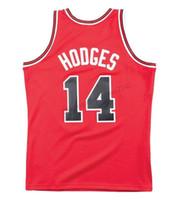 Дешевые Пользовательские ретро # 14 Крейг Ходжес Mitchell Ness Баскетбол Джерси для мужчин Все прошитой Красный Любой Размер 2XS-5XL Имя или номер верхнего качества