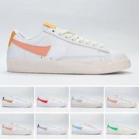 Nike Blazer Mid LOW جديد SB تكبير الحلل منتصف 77 الحافة النساء أحذية الرجال الحلل هاك حزمة البيضاء منتصف الليل البحرية نساء zapatos Size36-45