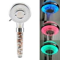 뜨거운 신제품 다채로운 LED 변경 샤워 헤드 욕실 물 광선 조명 필터 핸드 샤워 가족 저렴 한 할인 home1