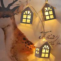 Qyjsd New Led Wood House String Light 3m Garland House Casa Casa Capo New Years Albero di Natale Party Wedding Party Fairy luci novità decorazione 201203