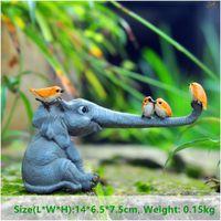 Collezione di tutti i giorni fortunati elefanti figurine figurine da giardino ornamenti animali domestici decorazione da tavolo decorazione da tavolo souvenir artigianato T200624
