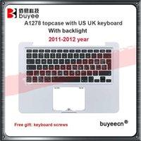 Сменные клавиатуры для ноутбука Оригинальные PalmRest для Pro A1278 Thapcase As UK Клавиатура с подсветкой 13 «Верхний чехол 2011 2011 2012 MB990 M