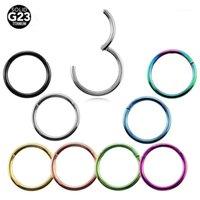 10 adet / grup G23 Titanyum Menteşeli Segment Septum Clicker Burun Yüzükler Meme Clicker Kulak Kıkırdak Tragus Dudak Piercing Moda Jewelry1