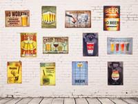 2021 Signes d'étain en métal drôle Pas de vin de travail Whisky Whisky Cocktail Plaque Plaque Bar Poster Restaurant Café Café Bar Pub Pub Stickers muraux de fer