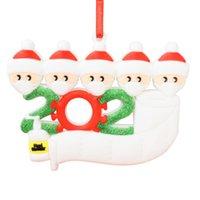 عيد الميلاد الحلي الحجر الصحي للعائلة سوداء بيضاء الناجي هانغ الأسرة الديكور قلادة ثلج مع قناع الوجه المطهر من ناحية مجانا DHL
