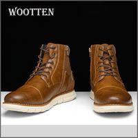 Größe 7-13 Marke Männer Stiefel Wootten Top Qualität beiläufige Schuhe der Männer gut aussehende bequeme Retro Lederstiefel # BY507C3 201019