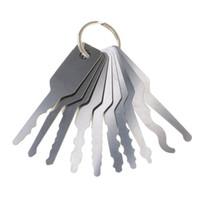 Locksmith 10pcs Jiggler Keys Lock Pick para la herramienta de selección de bloqueo de bloqueo de doble cara