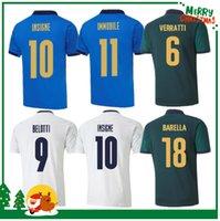 Italien 2020 2021 Fussball Jersey Home Away Jorginho El Shaarawy Bonucci Insignente Bernardeschi Erwachsene Männer + Kinder Kit Fußballhemden