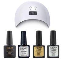 Elite99 5 Adet / grup Nail Art Set 24 W Tırnak Kurutucu Kür Için UV Jel Lehçe Mat Üst Kat Baz Coat Hızlı Hava Kuru Astar Jel