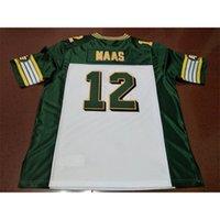 Benutzerdefinierte 421 Jugendfrauen Vintage Edmonton Eskimos # 12 Jason Maas Football Jersey Größe S-4XL oder Benutzerdefinierte Name oder Nummer Jersey