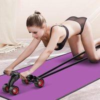 Abs Workout AB Roller roda 4 rodas rolo abdominal para equipamento de exercício muscular casa escritório interior aptidão sem ruído