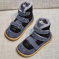Tipsietoes Top Brand Barefoot Натуральная Кожа Младенца Малыш Девушка Мальчик Детская Обувь Для Мода Зимние Снежные Сапоги LJ200911