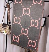 남성과 여성을위한 클래식 디자이너 캐시미어 스카프 럭셔리 캐시미어 디자인 큰 편지 패턴 캐시미어 Pashminas Shawls 스카프 A944