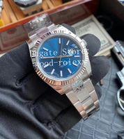 41mm Kristalluhr Herren Schwarz Blau Grau Silber ARF V3 Version Automatisch 2824 ETA AR Factory 904L Edelstahl Männer 126334 Rhodium Uhren