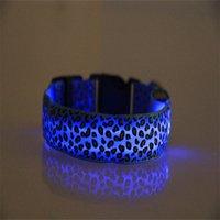 Naylon Leopar Pet Köpek Yaka Gece Güvenlik LED Şarj Yaka Düz Fiber Yaka Eğitim Güvenlik Yaka Kolye Pet Malzemeleri 50 P2