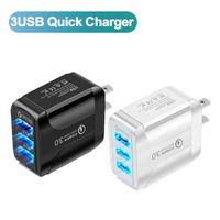 Caricabatterie USB del telefono cellulare Carica rapida 4.0 QC 3.0 Adattatore da parete di ricarica veloce tablet