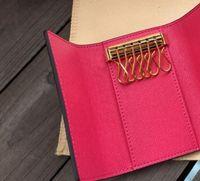 최고 품질의 새로운 여성 남성 box.dust 가방 카드 키 링 클래식 6 키 홀더 커버 키 체인 키 지갑 남성 7 색 DHL 무료