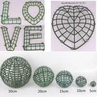 Dekoratif Çiçekler Çelenk Yapay Duvar Öpüşme Topu DIY Aksesuarları Plastik Raf Düğün Ev Partisi Dekorasyon Malzemeleri Için