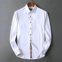 American Business Brand 2020 Thin Plaid Shirt, Marca de diseñador de moda Marca de manga larga Casual de algodón, camisa cooperativa de rayas, # 19
