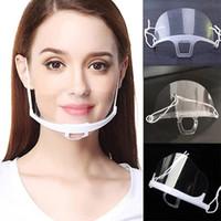 ABD Gemi Koruyucu Şeffaf Maske Ağız Yarım Yüz Plastik Şeffaf İkram Ağız Kapak Anti-Fog Guard Anti Yağ Toz Splash Kitchen Maske
