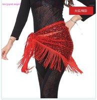 여자 밸리 댄스 엉덩이 스카프 섹시한 꽃 술 벨트 여성 의류 1을위한 도매 밸리 댄스 벨트