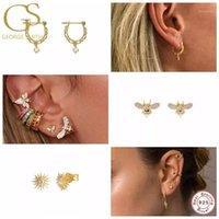 مسمار gs s925 فضة أقراط للنساء لطيف مصغرة القرط الزركون الماس الكورية الأزياء الجميلة مجوهرات pendientes1