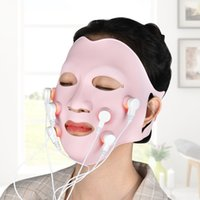 2020 Face Skin Care Tool Photon Therapy Facial Soft Gel Mask Machine with Controller Acupoint Vibration Therapy LED Vibration OEM Rohs CE